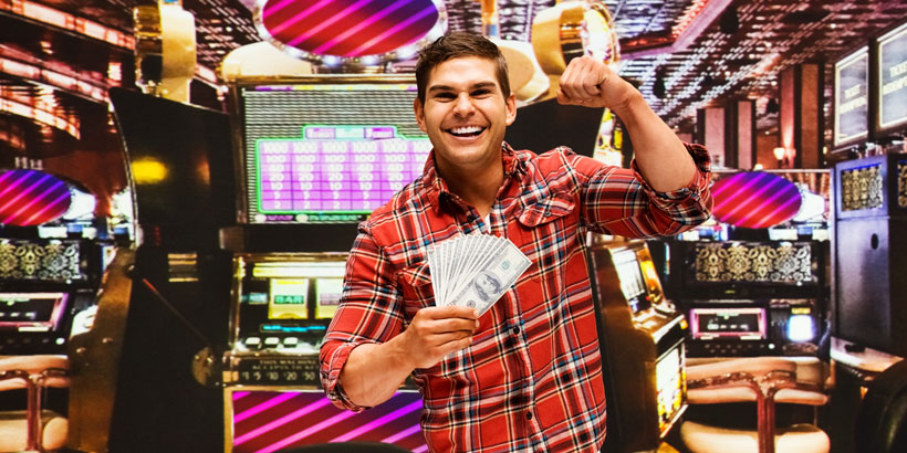 Guy won on Pokies Machine